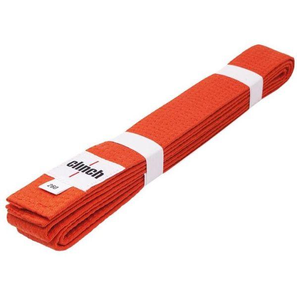 Пояс для единоборств Clinch Budo Belt оранжевый