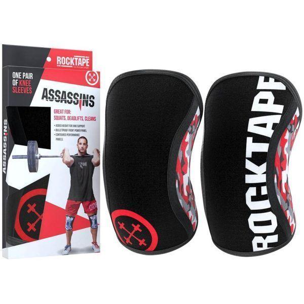 Наколенники RockTape Assassins Knee Sleeves Red Camo 5 мм - 2 шт.