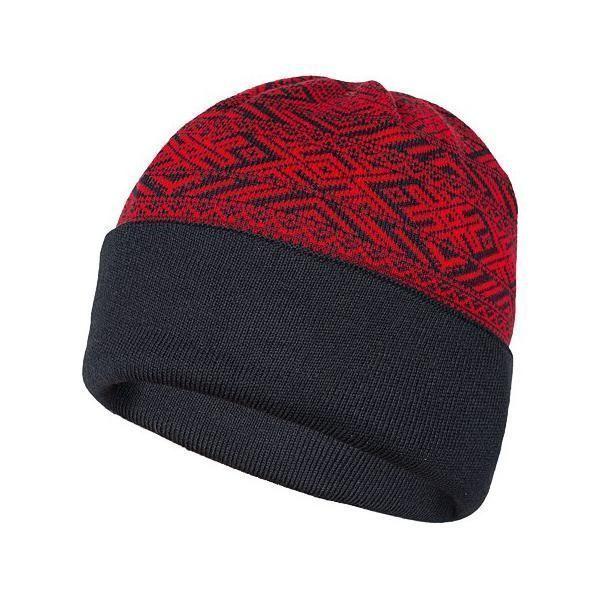 Двухсторонняя шапка Варгградъ Горизонты Времен - черный/красный