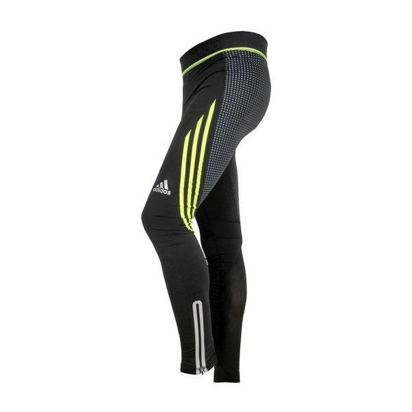 Леггинсы компрессионные Adidas Pro Pants Speedline черно-желтые