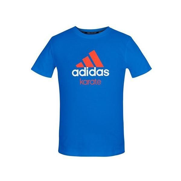 Футболка Adidas Community T-Shirt Karate сине-оранжевая