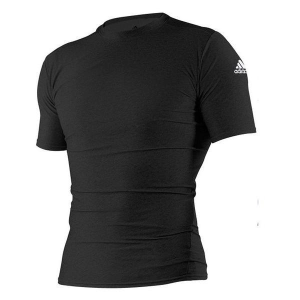 Футболка компрессионная (Рашгард) Adidas Rush Guard Short Sleeve черная