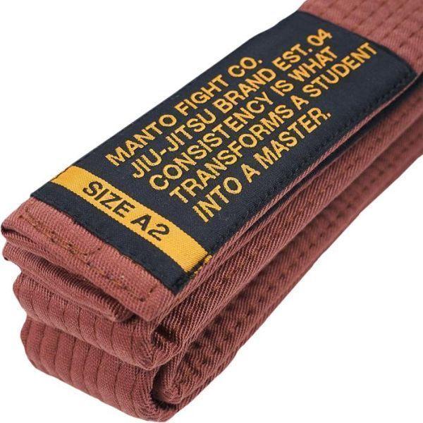 Пояс для кимоно БЖЖ Manto Motto - коричневый