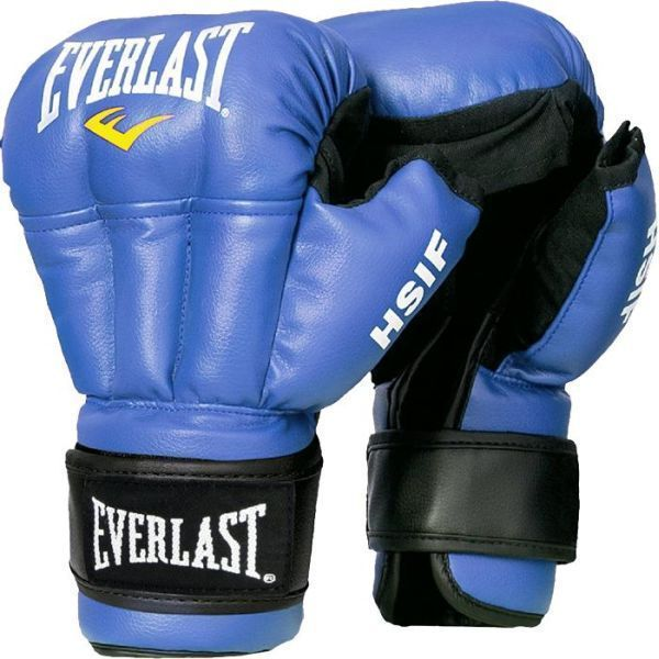 Перчатки для рукопашного боя Everlast HSIF PU син.