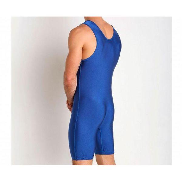 Трико борцовское детское Adidas Wrestling Solid Singlet синее