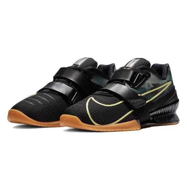 Штангетки Nike Romaleos 4 - Черный/Коричневый/Limelight (Камуфляж)