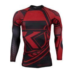 Рашгард Contract Killer long black - red