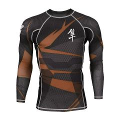 Рашгард Hayabusa Metaru long black - brown