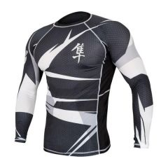Рашгард Hayabusa Metaru long black - white
