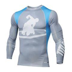 Рашгард Title MMA Endurance gray - blue