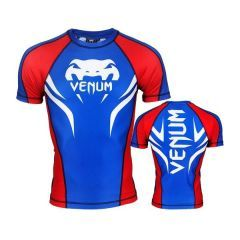 Рашгард Venum Electron 2.0 blue - red