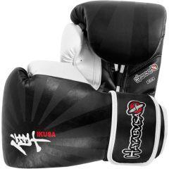 Боксерские перчатки Hayabusa Ikusa black - white