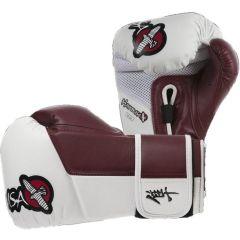 Боксерские перчатки Hayabusa Tokushu white - red