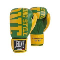 Боксерские перчатки Leone Explosion green - yellow