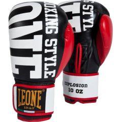 Боксерские перчатки Leone Explosion black - red