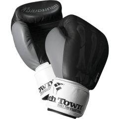 Боксерские перчатки PunchTown SPR Ti black - white