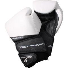 Боксерские перчатки PunchTown Tenebrae black - white