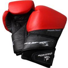 Боксерские перчатки PunchTown Tenebrae black - red