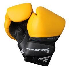 Боксерские перчатки PunchTown Tenebrae black - yellow