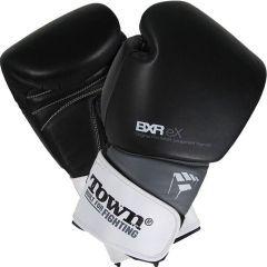 Боксерские перчатки PunchTown BXR eX black - white