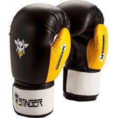 Боксерские перчатки Stinger black - yellow