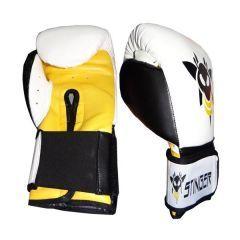 Боксерские перчатки Stinger white - black