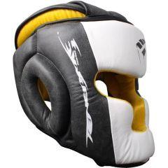 Боксерский шлем PunchTown Tenebrae black - white