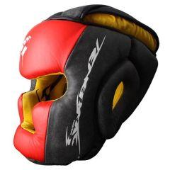Боксерский шлем PunchTown Tenebrae black - red