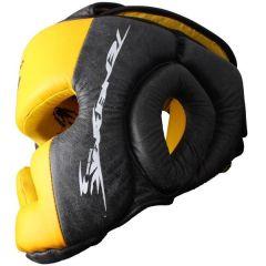 Боксерский шлем PunchTown Tenebrae black - yellow