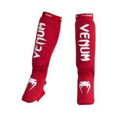 Защита голени и стопы Venum Kontact red