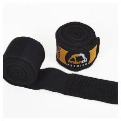 Боксерские бинты Manto Logo Pro black 4.5м