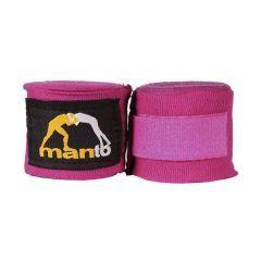 Боксерские бинты Manto Logo pink 4м