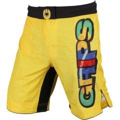 ММА шорты Grips Athletics Yellow Crocodile