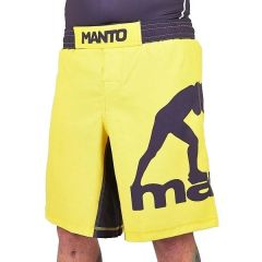 ММА шорты Manto Pro Logo yellow - black