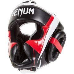 Боксерский шлем Venum Elite black - red