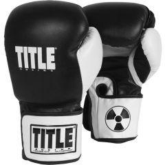 Боксерские перчатки Title Fury Bomber black - wh