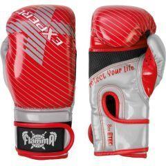Боксерские перчатки Flamma Expert red - gray