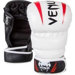 МMA перчатки Venum Elite Sparring white - red