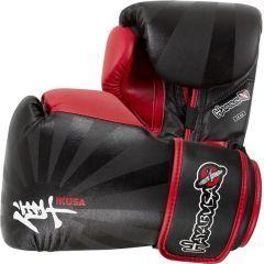 Боксерские перчатки Hayabusa Ikusa black - red