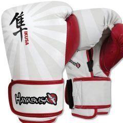 Боксерские перчатки Hayabusa Ikusa white - red
