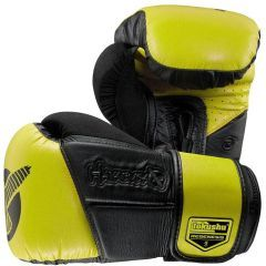 Боксерские перчатки Hayabusa Tokushu Regenesis black - yellow 12oz