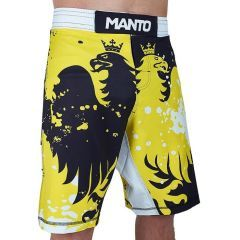 ММА шорты Manto Crazy Bee black - yellow