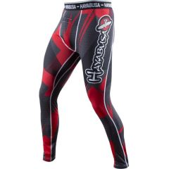 Компрессионные штаны Hayabusa Metaru 47 Silver black - red