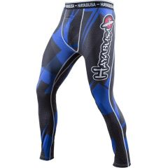 Компрессионные штаны Hayabusa Metaru 47 Silver black - blue