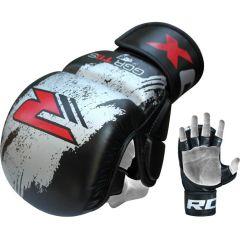 Гибридные ММА перчатки (накладки) RDX black - gray