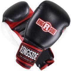 Снарядные боксерские перчатки Ringside Gel Super black - red