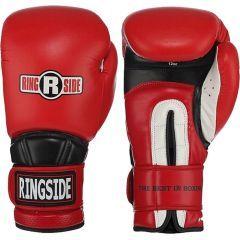 Боксерские перчатки Ringside Hook & Loop red