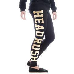 Женские спортивные штаны (леггинсы) Headrush black - gold