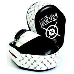Боксерские лапы Fairtex FMV11 black - white