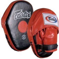 Боксерские лапы Fairtex FMV10 black - red